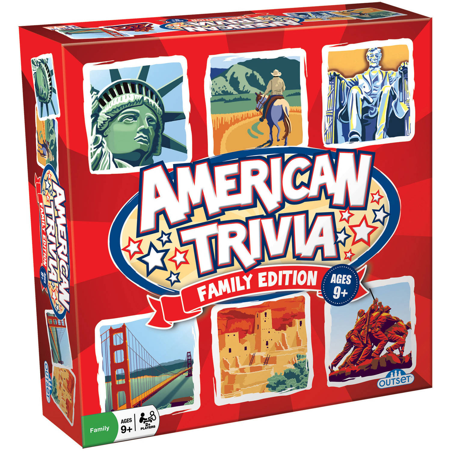 Outset American Trivia: Family Edition by Outset Media