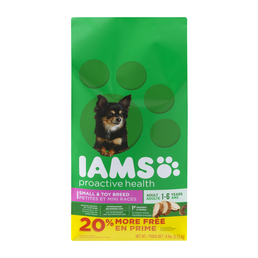 Iams Proactive Health Small and Toy Breed Adult Dog, 6 lbs