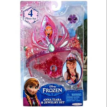 Disney Frozen Anna Tiara and Jewelry Set