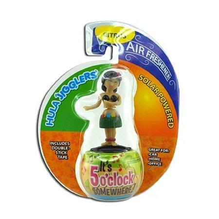 all-in-one dancing hula girl solar jiggler w/air freshener - one item w/random color and - Solar Hula Girl