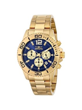 Invicta Men's 17402 Pro Diver Chronograph Blue Dial Gold Stainless Steel Watch