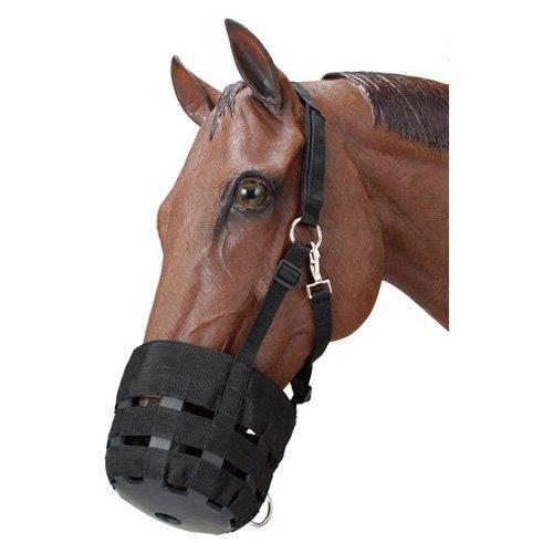 JT Sprockets Nylon Grazing Muzzle Large Horse Black