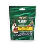 (2 Pack) Forti-Diet Yo Chips Rabbit & Guinea Pig Berry Blend Flavored Pet Food, 3.5 oz.