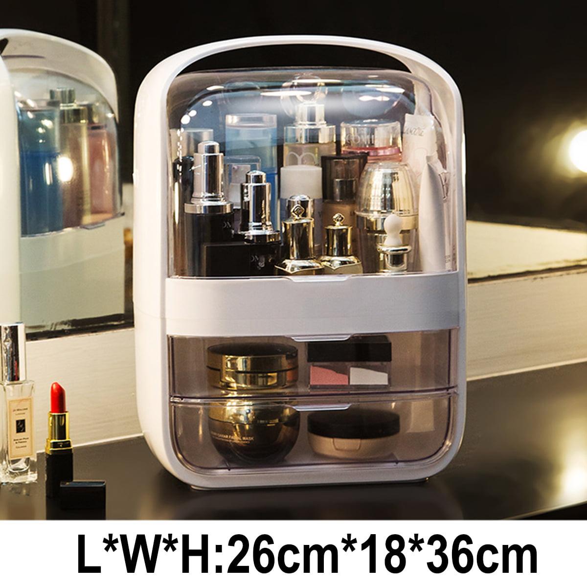 Modern Crystal Dustproof Makeup Organizer Portable Cosmetic Organizer Box Skincare Storage Walmart Com Walmart Com