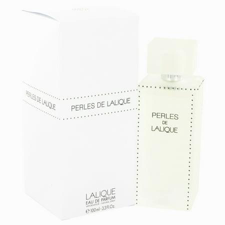 Lalique Perles De Lalique Eau De Parfum Spray for Women 3.4 (Lalique Clear Crystal)