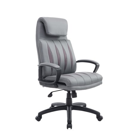 HomCom High Back PU Leather Executive Office Chair Gray