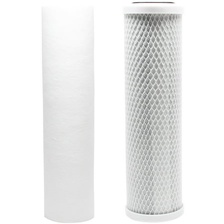 - Replacement Filter Kit for Watts WP-2 LCV RO System - Includes Carbon Block Filter & PP Sediment Filter - Denali Pure Brand