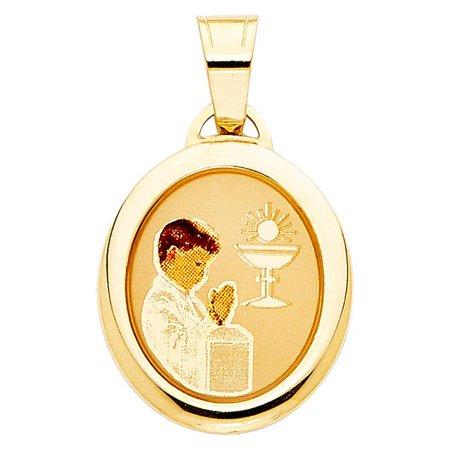 Jewelry 14k Yellow Gold Boy?s First Communion Pendant](First Communion Jewelry)