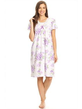 b7a54af3ae61a Product Image 1812 Womens Nightgown Sleepwear Pajamas - Woman Sleeveless  Sleep Dress Nightshirt Purple L