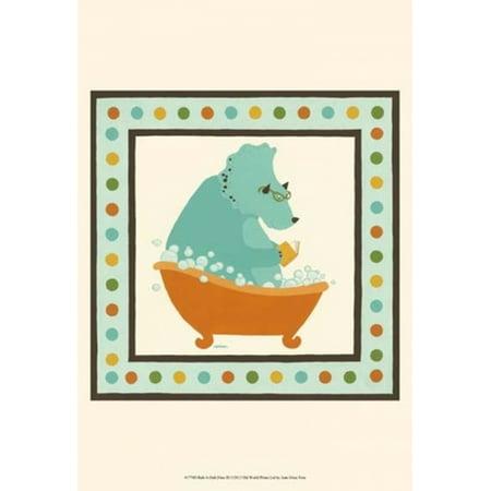 Rub-A-Dub Dino III Poster Print by June Erica Vess (13 x (Rub A Dub Three Men In A Tub)