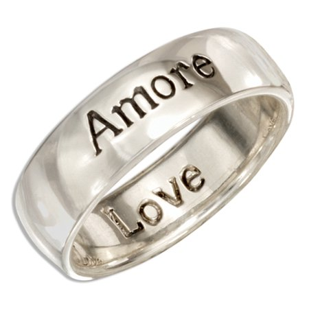 Amore Band Ring - STERLING SILVER
