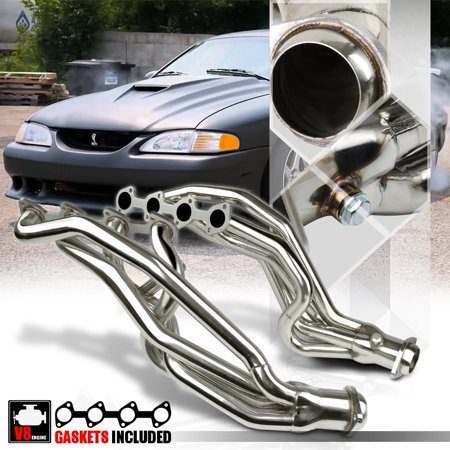 Stainless Steel Long Tube Exhaust Header Manifold for 96-04 Mustang 4.6 281 V8 97 98 99 00 01 02
