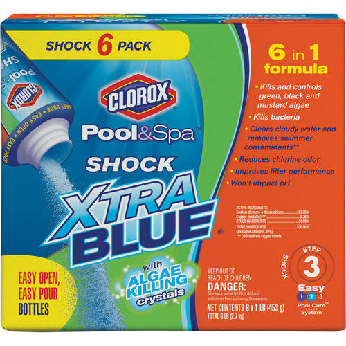 Clorox Pool and Spa Shock Xtra Blue, 6 lbs 33006CLX