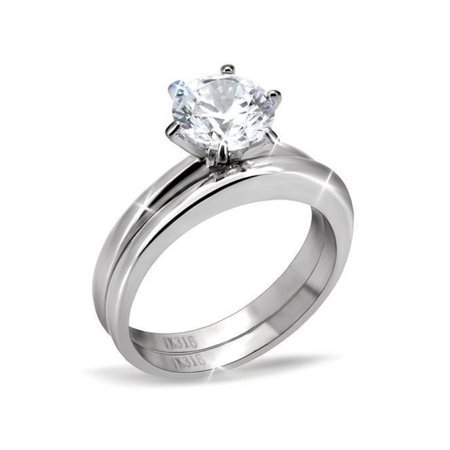 7x7mm Round Cut CZ Solitaire Women