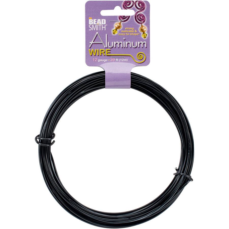 Aluminum Wire, 12 Gauge, 39' Coil, Black