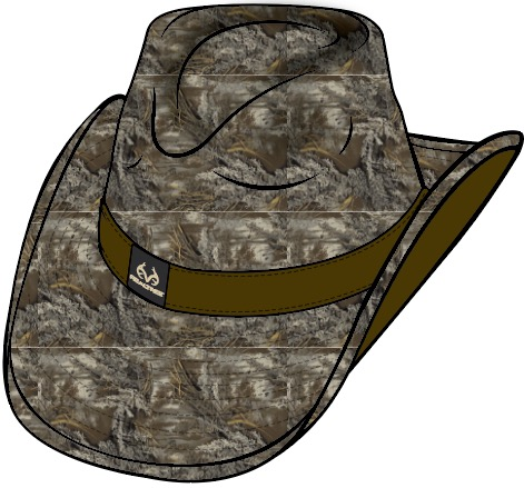 Vintage Realtree camo cowboy hat