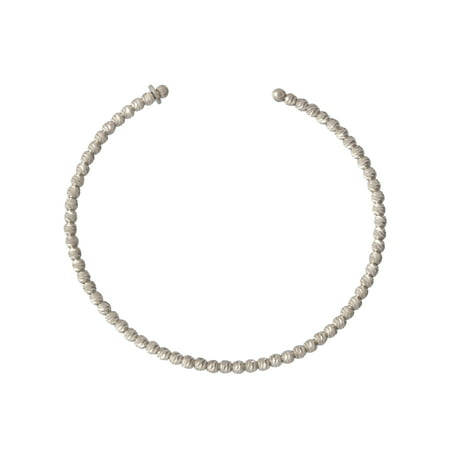 Diamond Cut Bead Bangle Bracelet