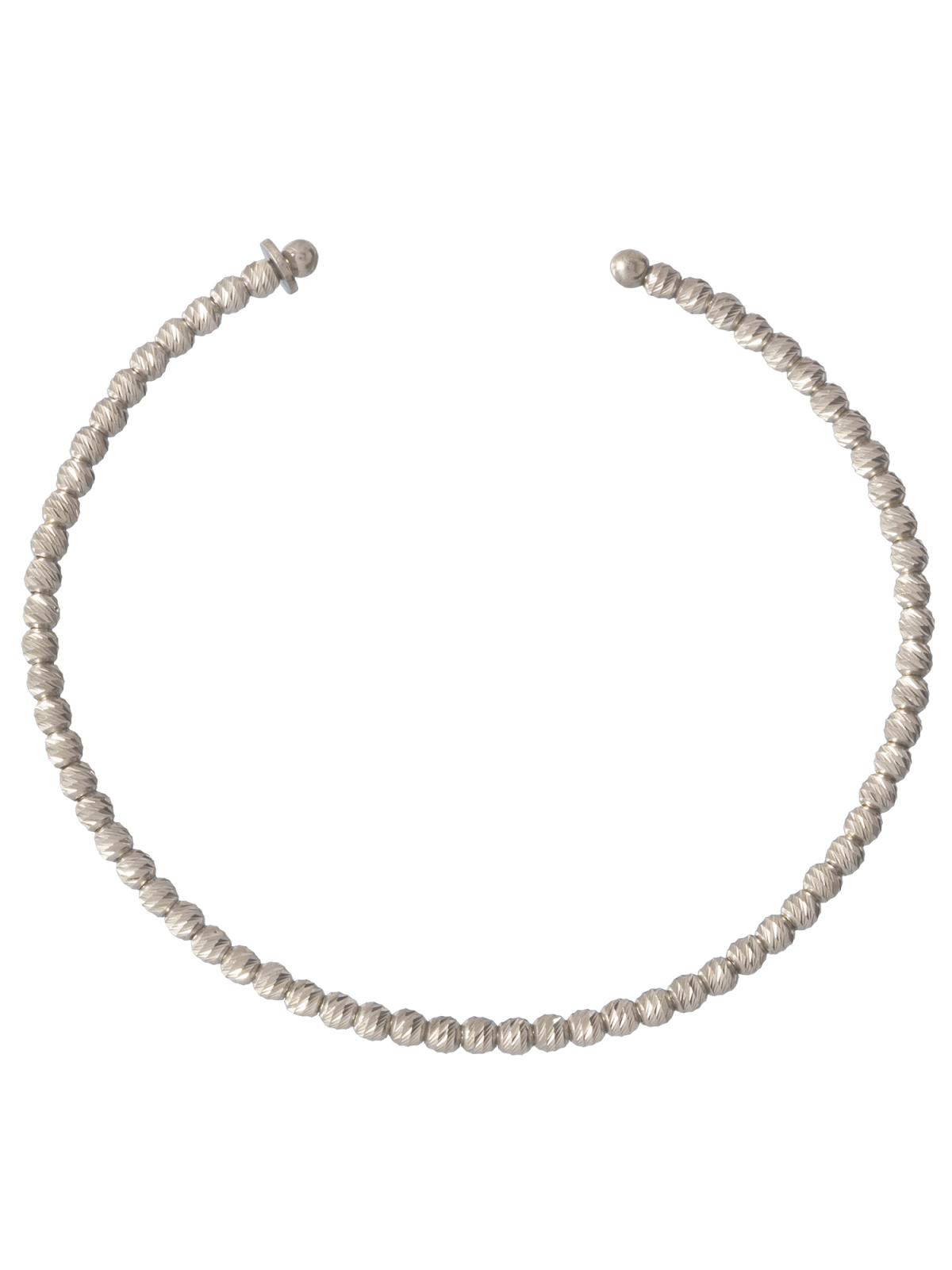 Diamond Cut Bead Bangle Bracelet