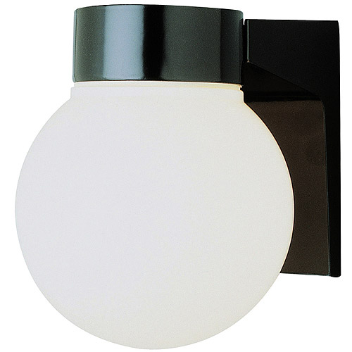 "BelAire Metro Regent 6"" Globe Outdoor Wall Light, Black"