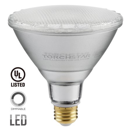 TORCHSTAR 1-Pack Dimmable PAR38 LED Light Bulb, 15W (120W Equivalent) LED Spot Light, Medium Screw Base (E26), 2700K (Soft White Glow), UL-Listed, Wet Location Available, 3 YEARS WARRANTY