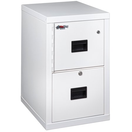 2 Hr Fireproof File (Fireking Fireproof 2R1822-CAWSF Office Industrial Arctic White Two Drawer vertical letter / legal Size 22