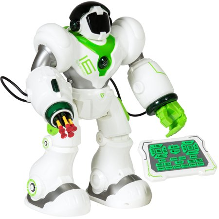 Best Choice Products Remote-Control Intelligent Muli-functional RC Talking Walking Robot Action Toy w/ Shooting Darts, LED Lights, Music - (Best Radio Ads Scripts)