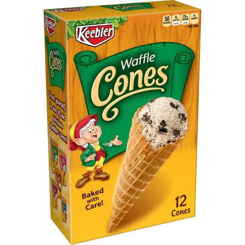 Keebler Waffle Cones (Pack of 18)