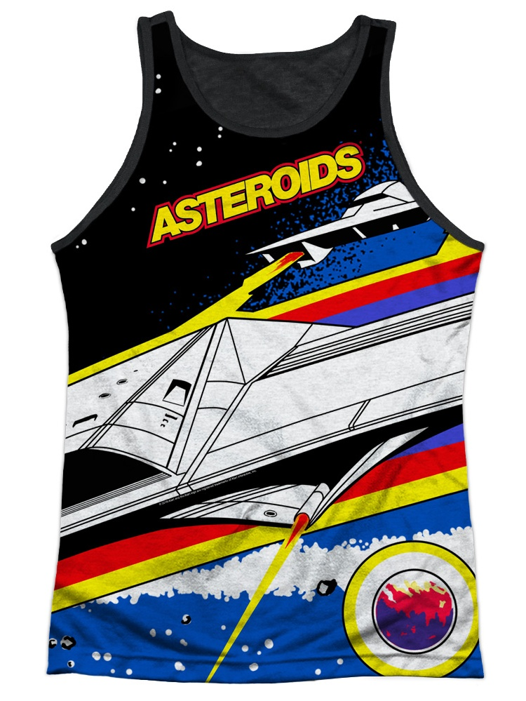 Atari Asteroids All Over Adult Tank Top