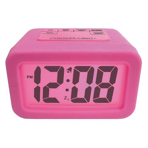 Advance LCD Alarm Clock with Pink Backlight