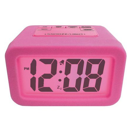 Advance Lcd Alarm Clock With Pink Backlight Walmart Com
