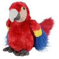 "Wildlife Tree 10"" Red Scarlet Macaw Parrot Stuffed Animal Plush Floppy Zoo Bird"
