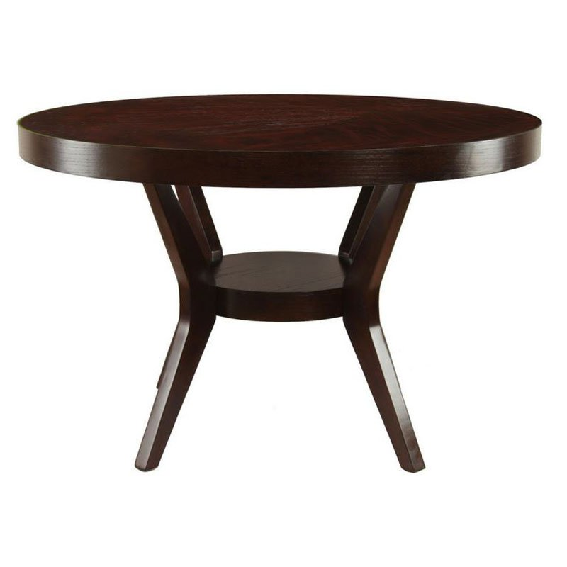 Furniture of America Ronburg Round Dining Table by Enitial Lab