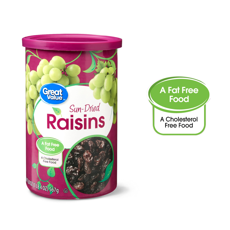 Great Value Sun-Dried Raisins, 20 oz - Walmart.com