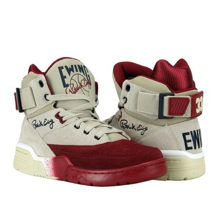 Ewing Athletics Ewing 33 Hi Cream/Bike Red Men's Basketball Shoes 1EW90191-922