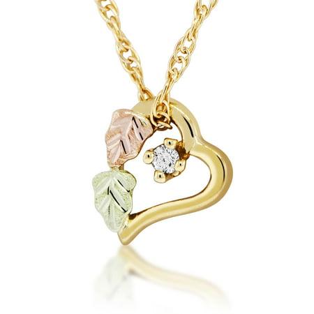 Black Hills Gold  Diamond Accent Heart Pendant (Black Hills Gold Heart Locket)