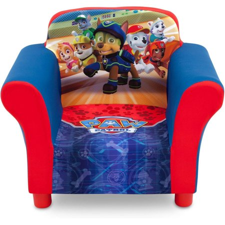 Delta Children Nick Jr. Paw Patrol Upholstered Toddler Chair with Side Pockets (Kids Accent Table)