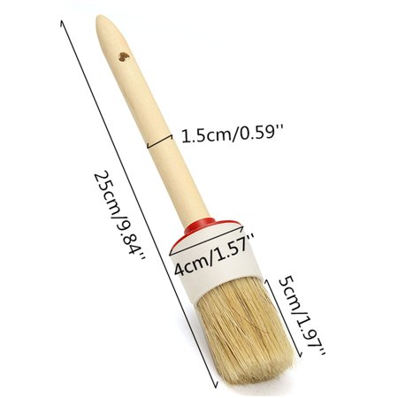 25CM Professionally Round Paint Wax Chalk Brush Natural Bristles Premium - image 7 de 8