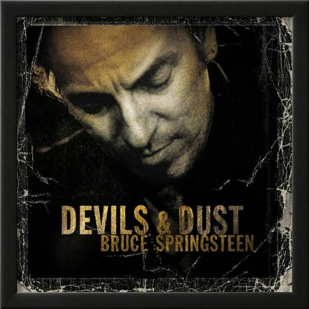 Frame Dust (Bruce Springsteen - Devils and Dust Framed Poster Wall Art)