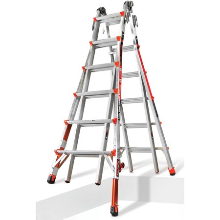 Little Giant Revolution M26 Aluminum Articulating Ladder with Ratcheting Leg Levelers