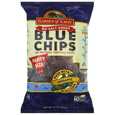 Garden Of Eatin' No Salt Blue Tortilla Chips, 16 oz (Pack of 12)