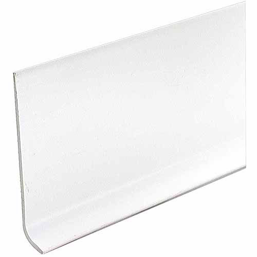 "M-D Products 73897 White Vinyl Dryback Wall Base, 4"" x 60'"