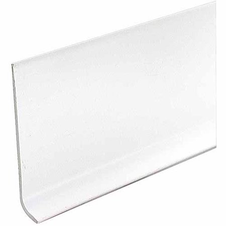 M D Products 73897 White Vinyl Dryback Wall Base 4 Quot X 60