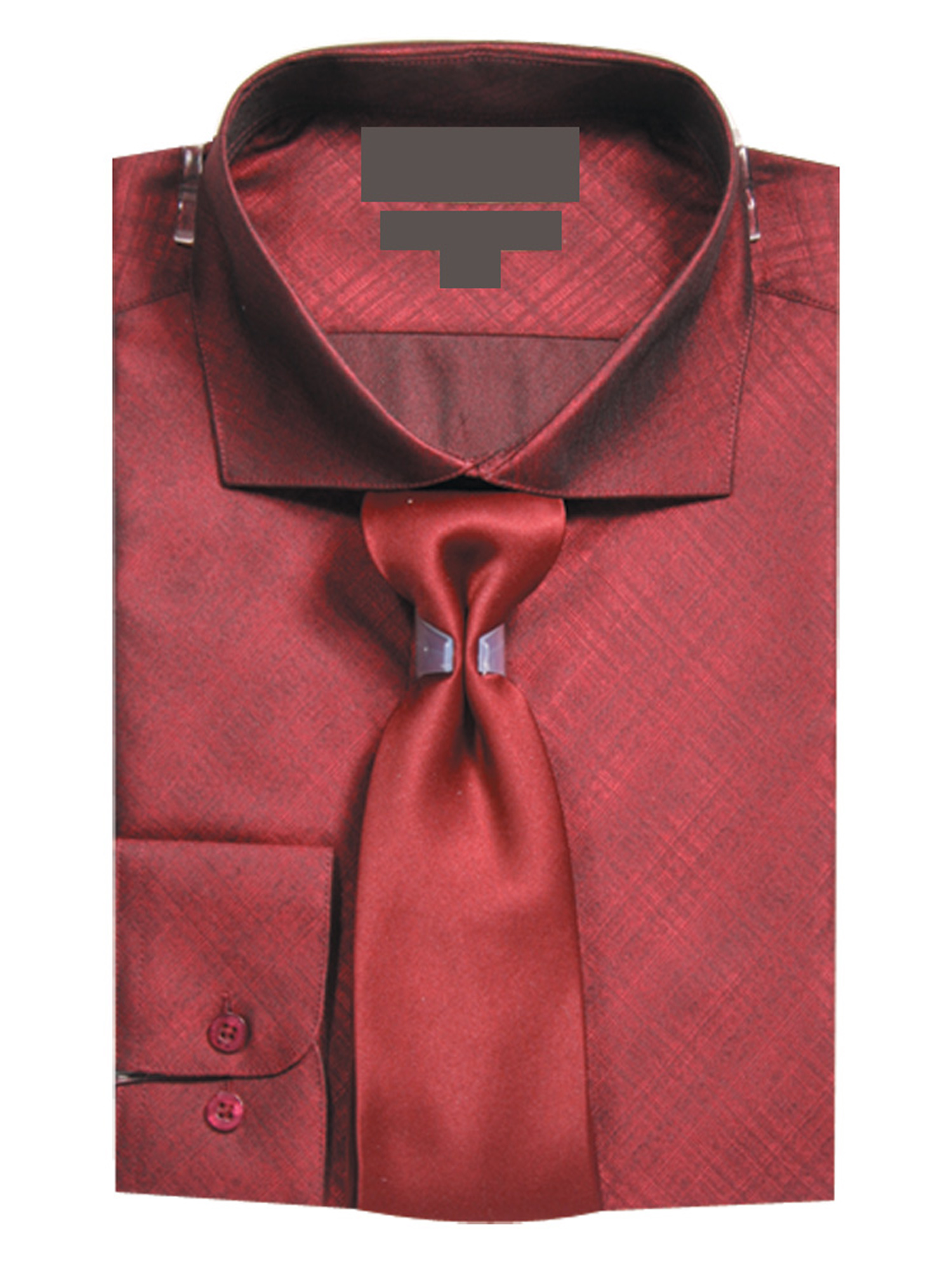 Sunrise Outlet Mens Slim Fit Metallic Texture Dress Shirt With