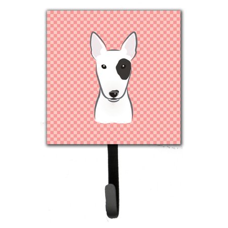 Caroline's Treasures Checkerboard Bull Terrier Wall Hook