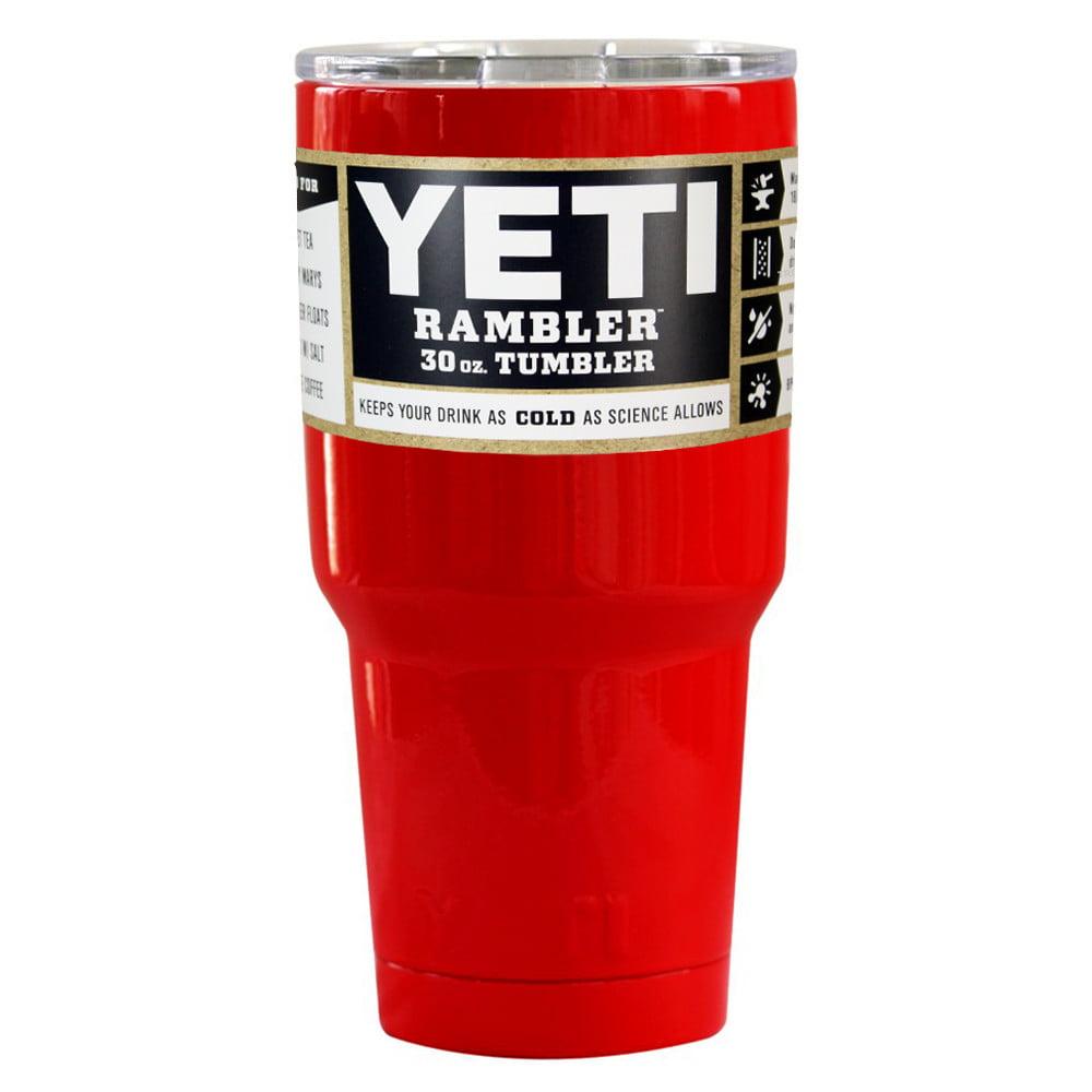 YETI Coolers Rambler Tumbler, Stainless Steel, 30oz, Red YRAM30