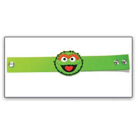 Wristband - New Oscar Face PVC Rubber Green 81824ses](Wristband Light)