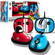 Sharper Image Road Rage, RC Speed Bumper Cars, Mini Remote Controlled Ejector Vehicles, 2 Player Head to Head Battle, Crash into Opponents, 2.4 GHz, Red and Blue, Ages 6 and Up