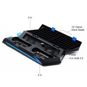 Womail Cooling Fan Controller Charging Station &Game Storage &Dualshock Charger For PS4