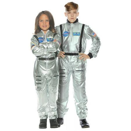Silver Astronaut Jumpsuit Child Halloween Costume](Astronaut Jumpsuit Costume)