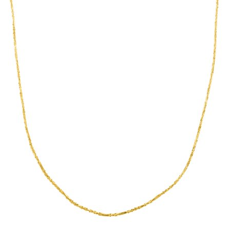 Eternity Gold 22-inch Criss-Cross Chain Necklace in 14kt Gold